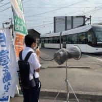 厳しい水際対策待ったなし!~南富山駅前で街頭演説~