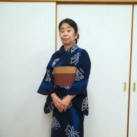令和元年8月17日 木材団地地区会の盆踊りの浴衣着付ボランティア