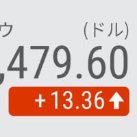 11日 NYダウ平均 続伸 13ドル高 景気回復期待で消費関連に買い