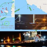 デンマークのばら積み貨物船がギリシャのばら積み貨物船海との衝突で大きな損傷を受けた