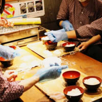 弊社系列店の「漁師の浜焼 あぶりや」でお寿司の勉強会|じねんじょ蕎麦 箱根 九十九