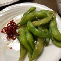 ペペロンチーノ枝豆と餃子