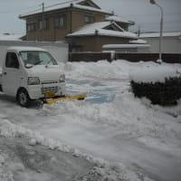 車検 酒田市新橋のサカタマツダ自動車です。朝から除雪装置が大活躍!