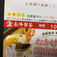 【甘味・カフェ】長峰製茶(ながみねせいちゃ・町田根岸店 )の煎茶・アイスぜんざいセット、旨♪