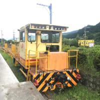 湯平駅でメンテナンス車両を目撃!