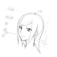 [イラスト]斜め顔・描き方