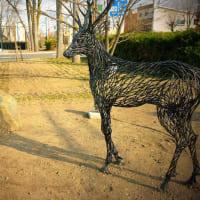 浅井憲一「大雪からの便り」上川管内東川町の野外彫刻(3)