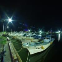田浦漁港、夜と昼