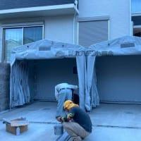 アコーディオンガレージテント【夏の強い紫外線や黄砂からあなたのお車をお守りします!】
