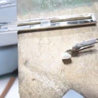 ネクタイピンピンの根元折れ 修理 メッキ掛け直し
