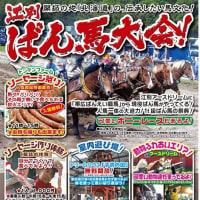 明日!江別ばん馬大会開催のご案内!