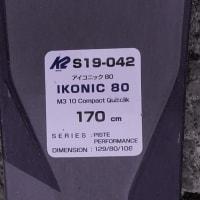 K2 アイコニック80、170センチ