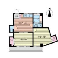 寒川駅 徒歩3分!2DK貸マンション!最上階!
