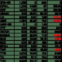 【タイ株】現在の保有株&株数(2020.7.26)