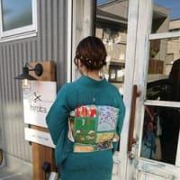 美容室&カフェオーナーさんへ出張着付けへ行ってまいりました~お宮参り【神社外撮影】