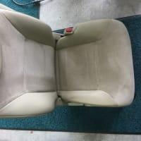 国産車 N社 ミニバン 運転席シート 座面表皮 剥がれ 部分張替え リペア