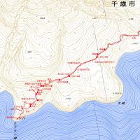 オコタン崎と巨木のGPSトラック