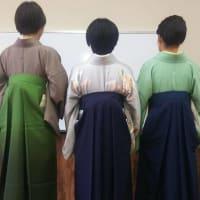 令和2年3月17日出張着付け1件目は堺市東区、女袴4名とヘアセット3名のご依頼でした。