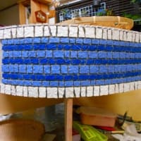 DIY・・外用のタイルの流し台