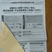 期日前投票を済ませたあとに届いた選挙公報