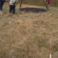 午後からトンドを作って2時半から火を着けました