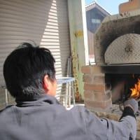 ピザ窯で自家製ピザ作り(^^)/