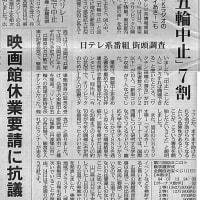 「五輪中止」7割 日テレ系番組 街頭調査/NHKラジオの「マイあさ!」も・・・今日の赤旗記事