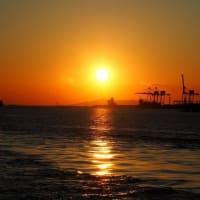 天保山の夕陽