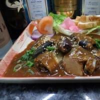 23、圧力鍋で、「デーツ入り秋刀魚の味噌煮」を作ってみた。