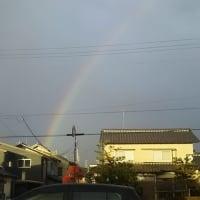 北陸の冬らしい、雨風と日差しが交互に来る、冬型の時雨天気・・・日本海は荒れていますが、時折日差しが差し込み、虹が綺麗に見えて、心癒されます。