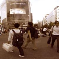 パノラマ東京10番 渋谷のスクランブルもセピアで染めた