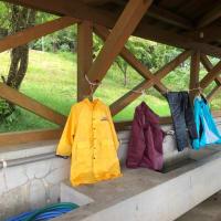 豪雨の中家族でキャンプです(横岳自然公園)