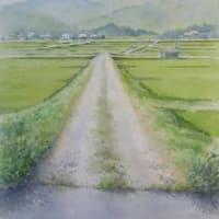 水彩お絵描き思い出めくり№35「農道」