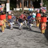 小瀬戸子安浅間神社例大祭にて「ささら獅子を奉納」