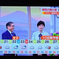 6/19 森田さんの 後ろの窓に富士山