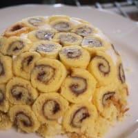 グレープフルーツのババロアケーキ