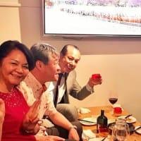 「新報・タイムス両東京支社長と西麻布で乾杯!」