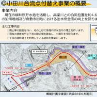 岡山県倉敷市真備町の豪雨決壊の小田川改修工事公開。「高梁川と小田川の境に堤防を築いて川を分離する」工事が、予定。