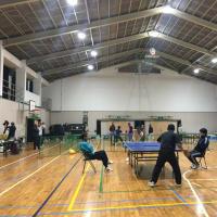 自治区会主催の卓球大会!!わが町内会 団体で優勝。
