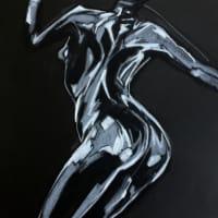 Nude-Muse-angel-Tableau-ヌード-芸術-アート-絵画:キャッツウーマン