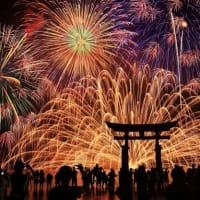 厳島神社の花火大会【広島県廿日市市】
