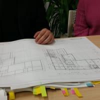 (仮称)時間の流れとルーツを豊かに感じる郊外に佇む平屋の家リノベーション設計デザイン打ち合わせ、LDKや和室、インテリアの融合と庭、過ごし方、色と素材とイメージで和モダン空間を現代的に融合。