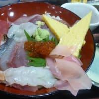 漁師料理たてやまさんで地魚入りづけ丼 アジフライ定食 たてやま丼他
