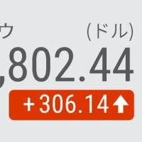 8日 NYダウ平均 続伸306ドル高、経済対策期待で景気敏感株に買い
