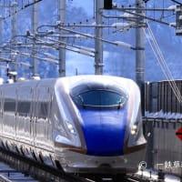 E7系飯山駅を通過!