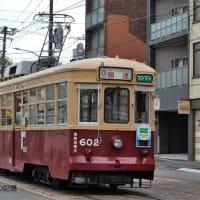 広島電鉄 猿猴橋町電停(2020.11.23) 「ひろでんの日2020」 旧西鉄 602 貸切電車