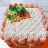 父、78歳♡おめでとう ~スクエア♡バースデーケーキ~