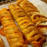 1つの生地で2つの味のパン作りました!!