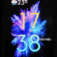 今日の一枚 HONOR Band 5 AMOLED Display Colorful Watchface