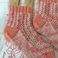 手編み靴下 作品NO.286